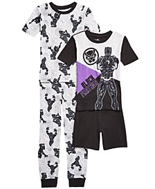 Little & Big Boys 4-Pc. Black Panther Pajamas Set