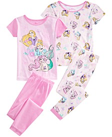Little & Big Girls 4-Pc. Princess Pajamas Set