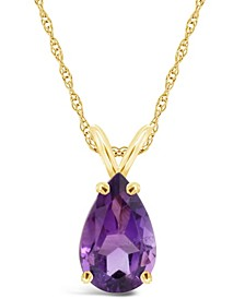 Swiss Citrine (3-5/8 ct. t.w.) Pendant Necklace in 14K Yellow Gold. Also Available in Amethyst and Blue Topaz