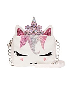 Toddler, Little and Big Kids Miss Gwen Unicorn Crossbody with Flower Crown