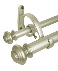 Urn Double Curtain Rod Set