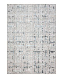 CLOSEOUT! Versal HV-23 Ivory and Blue Area Rug
