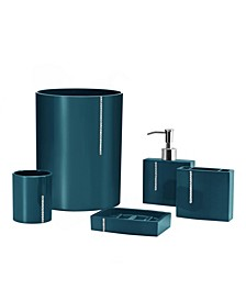 Cristal 5 Piece Bathroom Accessory Set
