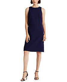 Petite Snap-Trim Crepe Shift Dress