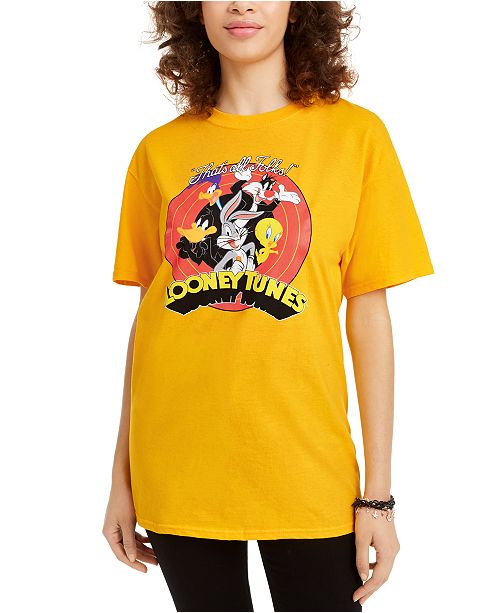 Warner Brothers Love Tribe Juniors' Cotton Looney Tunes Graphic T-Shirt
