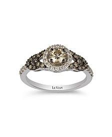 Chocolate Diamonds® (1/2 ct. t.w.)  and Vanilla Diamonds®(1/5 ct. t.w.) Ring in 14k White Gold