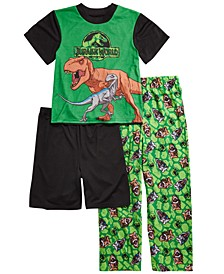Little & Big Boys 3-Pc. Jurassic World Pajama Set