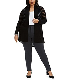 Plus Size High-Low Cardigan