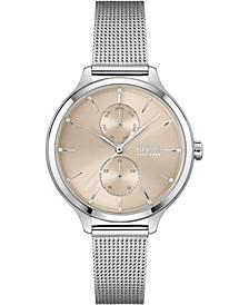Women's Purity Stainless Steel Mesh Bracelet Watch 36mm