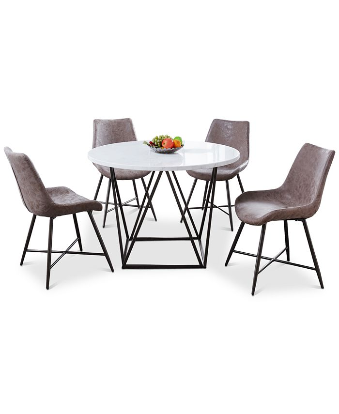 Steve Silver - Ramona 5-Pc. Dining Set, (Round Table & 4 Side Chairs)