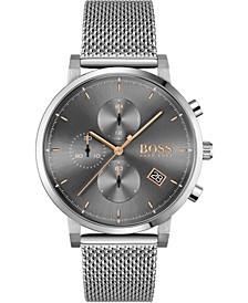 Men's Chronograph Integrity Stainless Steel Mesh Bracelet Watch 43mm