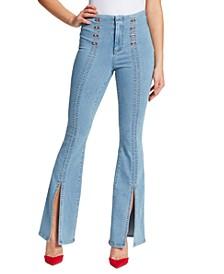 Maty Sailor Flare-Leg Jeans