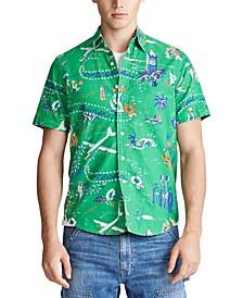 Men's Classic-Fit Tropical Shirt