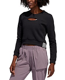 Women's Cutout Cropped Sweatshirt