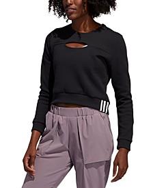 Women's Cutout Cropped Sweatshirt