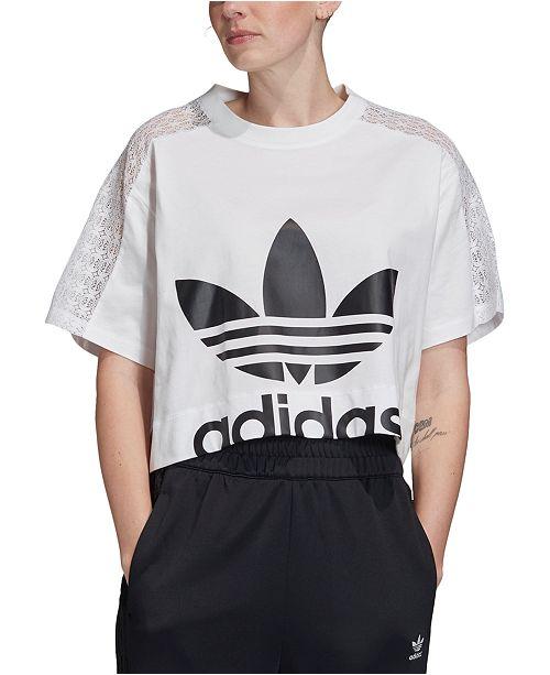 adidas crop t shirt