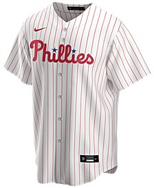 Men's Philadelphia Phillies Official Blank Replica Jersey