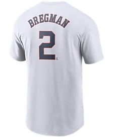 Men's Alex Bregman Houston Astros Name and Number Player T-Shirt