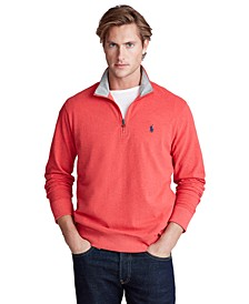 Men's Cotton Mesh Quarter-Zip Pullover