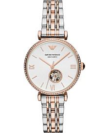 Women's Automatic Two-Tone Stainless Steel Bracelet Watch 34mm