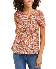 Printed Smocked Top, Created for Macy's