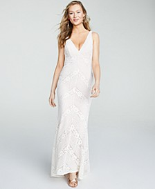 Juniors' Slim Lace Gown