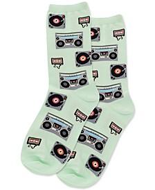 Women's Retro Music Crew Socks