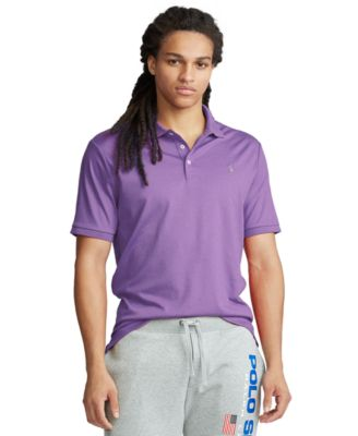 Carmel Pink Ralph Lauren Cotton Mesh Polo Shirt for 6 to 14 Years Old Boys