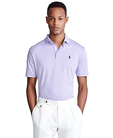 Men's Classic Fit Soft Cotton Striped Polo