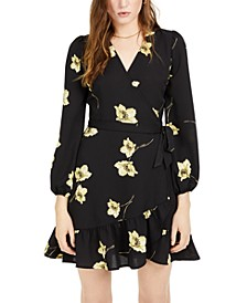 Floral Wrap Mini Dress, Created For Macy's