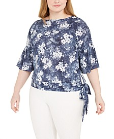 Plus Size Side-Tie Top