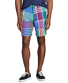 "Classic Fit 9.25"" Madras Linen Shorts"