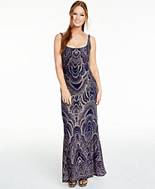 Jump Juniors' Lace-Up Glitter Gown