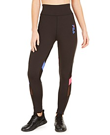 Hikari Colorblocked Mesh-Trimmed High-Rise Leggings