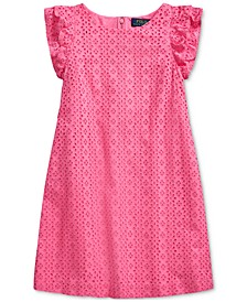 Big Girls Eyelet-Embroidered Cotton Dress