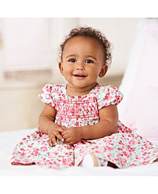 Baby Girls Smocked Dress & Bloomer