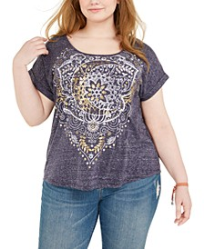 Plus Size Metallic Graphic Print T-Shirt, Created for Macy's