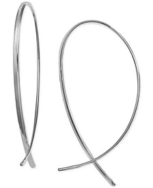 Polished Threader Earrings in Sterling Silver, Created for Macy's