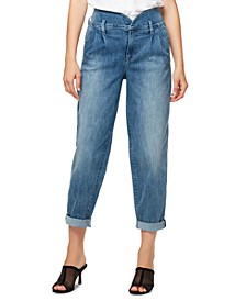 Pleated Cuffed Jeans
