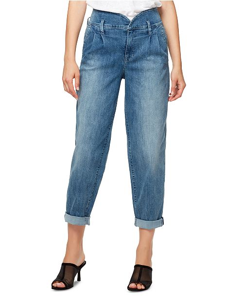 Sanctuary Pleated Cuffed Jeans