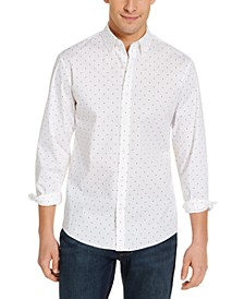Men's Slim-Fit Stretch Rainbow Dot Shirt