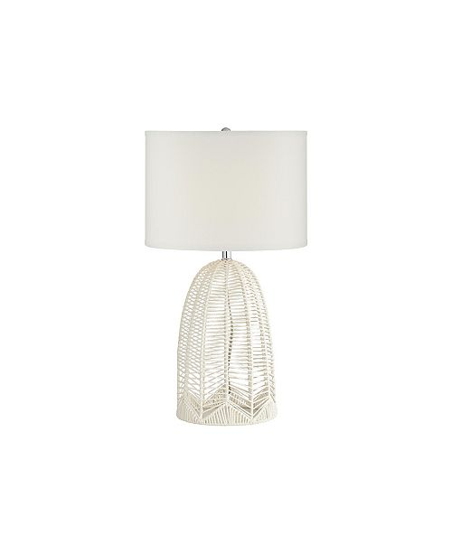 Pacific Coast Lighting White Rope Cage Table Lamp