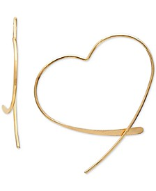 Wire Heart Threader Earrings in 18k Gold-Plated Sterling Silver, Created for Macy's