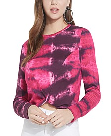 ECO Vamp Tie-Dye Twist-Hem Top
