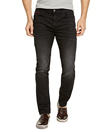 Men's Slim-Fit Stretch Knit Black Fade Jeans