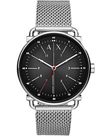 Men's Rocco Stainless Steel Mesh Bracelet Watch 44mm