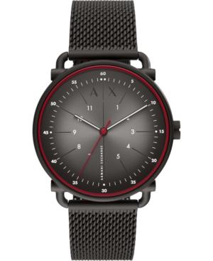 Men's Rocco Black Stainless Steel Mesh Bracelet Watch 44mm