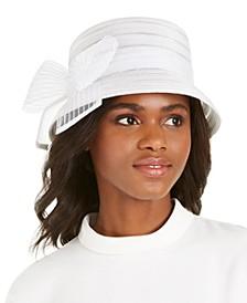 Sheer Stripe Braid Dressy Hat