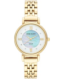 Women's Considered Solar Powered Gold-Tone Bracelet Watch 30mm