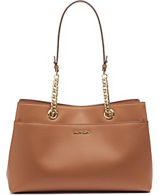 Leather Chained Satchel